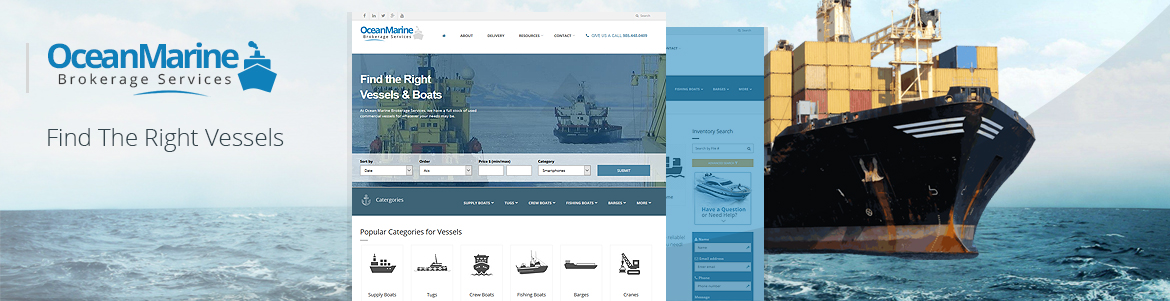 Ocean Marine Vessel Website Design
