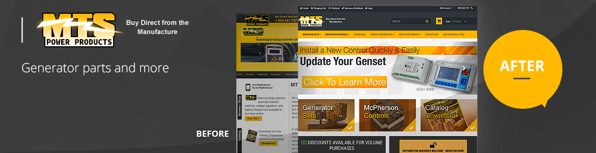 Mts power products responsive web development