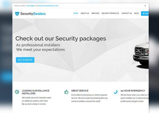 Blue Security Dealer Template