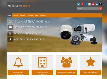 Security Dealer Web Design