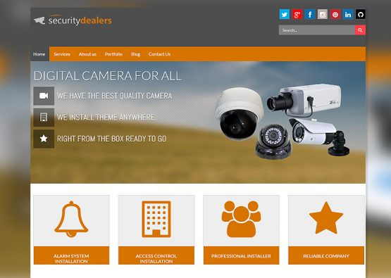 Security Dealer Web Design