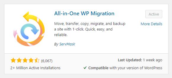 all-in-one wp migration wordpress web design boca raton 1