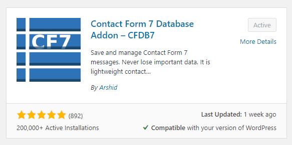 contact form 7 database addon wordpress web design boca raton 6