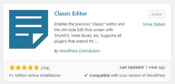 classic editor wordpress web design boca raton 3